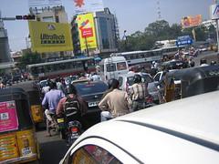 Typical Hyderabad Traffic