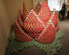 canstruction, food can, food can construction, food canstruction, can construction, creative can, creative canstruction
