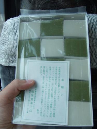 溫海朝市買的元祿餅