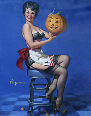 Pumpkin carving lady