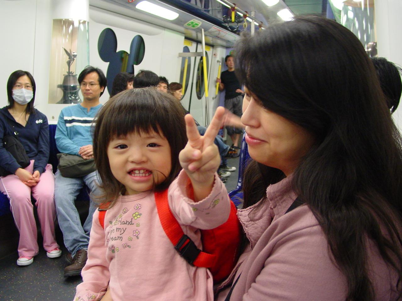 在迪士尼列車中