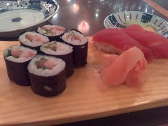 From left: Negitoro Maki and Maguro Sushi