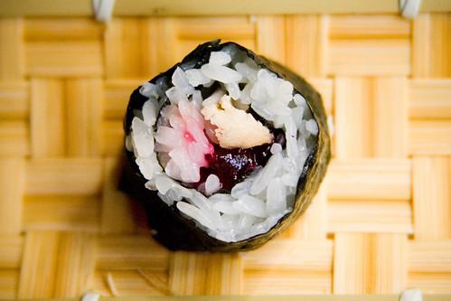 Turkey And Cranberry Sushi Recipe — Dishmaps