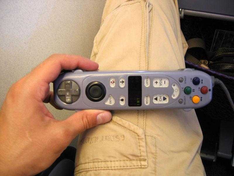 Remote control in plane