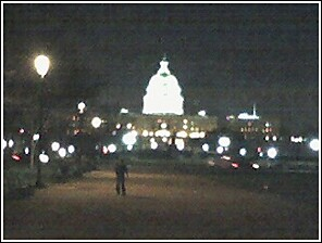 The Capitol Dome at night