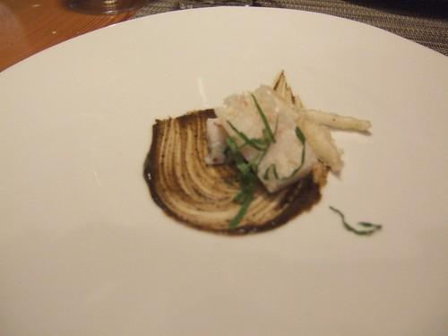 WD-50 (New York) - Crab Roll, Black Bean, Mint, Pickled Ginger Tempura