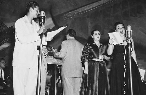 César de alencar, Dircinha e Linda batista (Foto do Arquivo da Rádio Nacional do Rio de Janeiro)