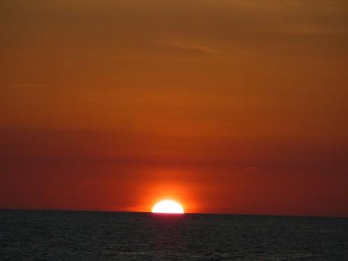 Sun Sinking Into the Ocean