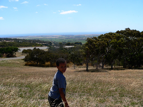 At lookout on way to Victor Harbor