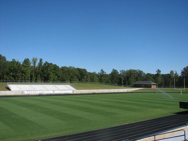 college football field dimensions. Bailey Field, Presbyterian