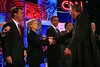 Fr. Jonathan Greets Democratic Candidates at the Start of the Debate