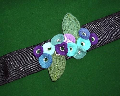 Leafy  Blue Purple Wrist Cuff