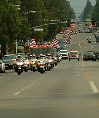 Funeral Procession for LAFD Captain Lane Kemper. CLICK TO ENLARGE