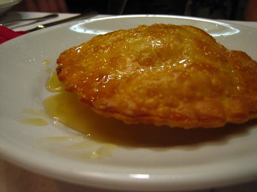 Seada - fried pastry stuffed with cheese