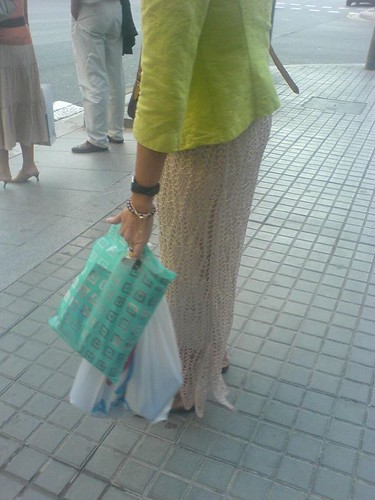 Knitspotting: interesting skirt