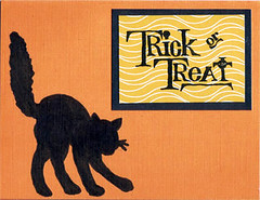 halloween cards: black cat