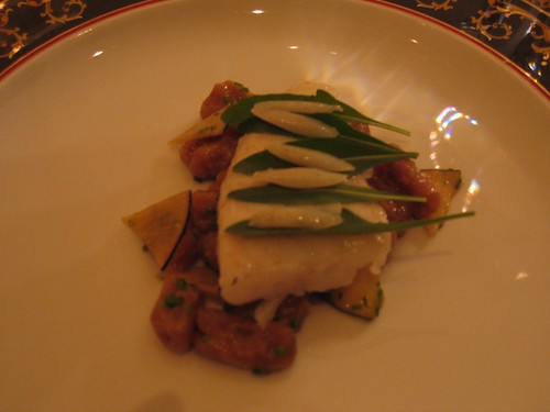IdeasinFood - Turbot w/ Tamarind Cavetelli, Olive Leaf Arugula, & Black Radish