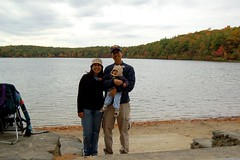 The family at Walden Pond