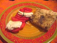 Fougasse tomates mozza
