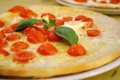 cherry tomatoes and buffalo mozzerella