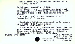 QE2 card catalog card