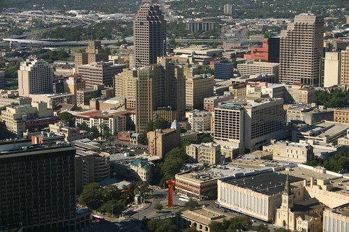 San Antonio - Downtown area from Tower of the Americas