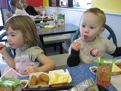 Lunch at McDonalds. At least they had apple slices.