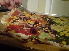pizza rot grün