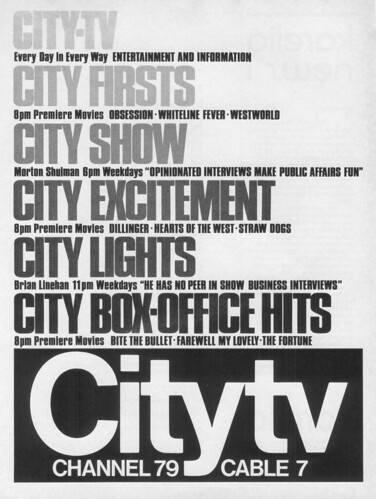 Vintage Ad #87 - City TV, Channel 79 Cable 7