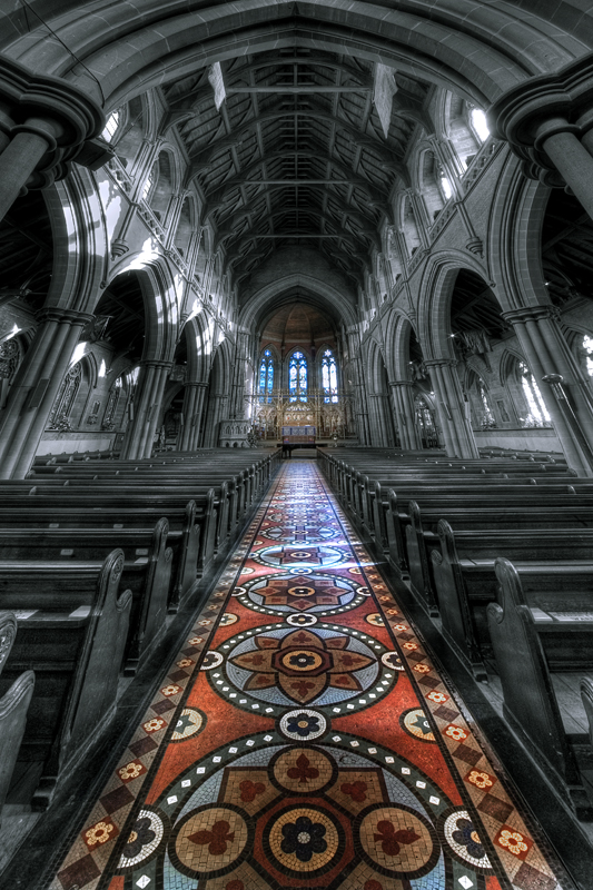 Remarkable it is the floor at Saint Mary...