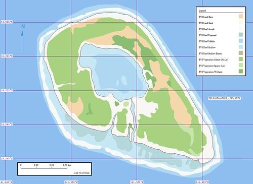 Tehuata Atoll - Marplot Map (1-15,625)