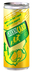 green card energy drink