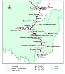 Map of trek