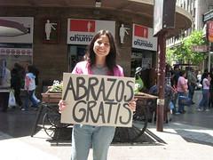 Foto de la campaña en el centro de Santiago