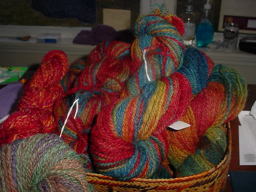 Hand Painted Handspun Corriedale Yarn
