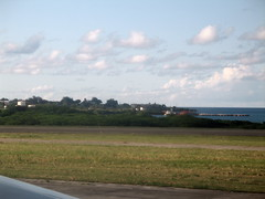 A quick snapshot from the aircraft window at the end of the runway in Antigua.