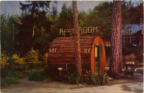 Postcard: Grundy's Redwood Terrace Toilets