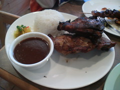 BBQ chicken with adobo sauce on the side - Pinpin 02/12/2006