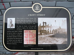 Croft St Plaque