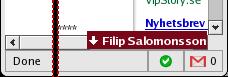 Gmail Scrollbar
