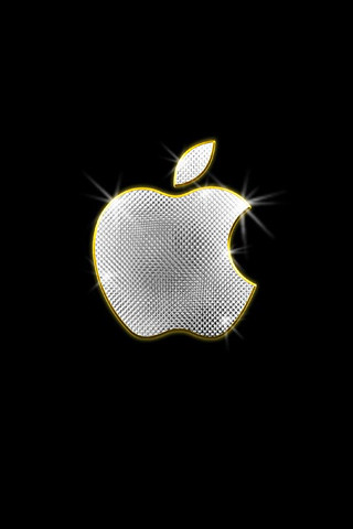 Apple bling iPhone wallpaper
