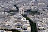 Paris - View of Arc de Triomphe de l'Étoile from Tour Eiffel