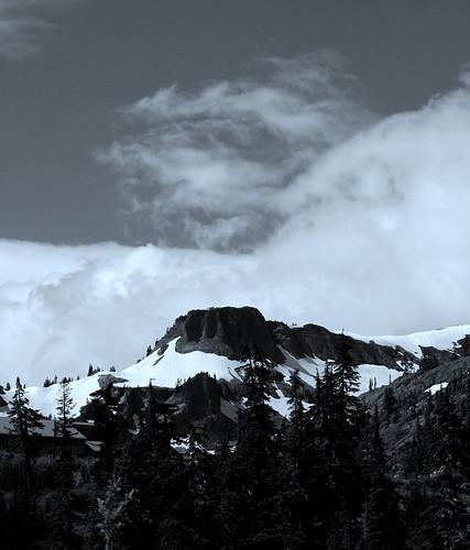 Table Mountain and some white fluffy stuff, WA, USA
