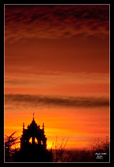 Sunset over Holloway College photo by MarkLandonPhotography