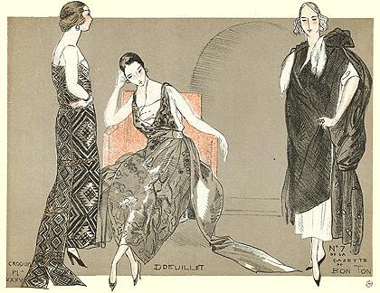 Fernand Simeon, La Gazette du Bon Ton magazine, La Mode pour l'Automne nº7, 1920