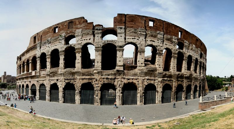Colosseum or Colisseum, the Flavian Amphitheatre in Rome