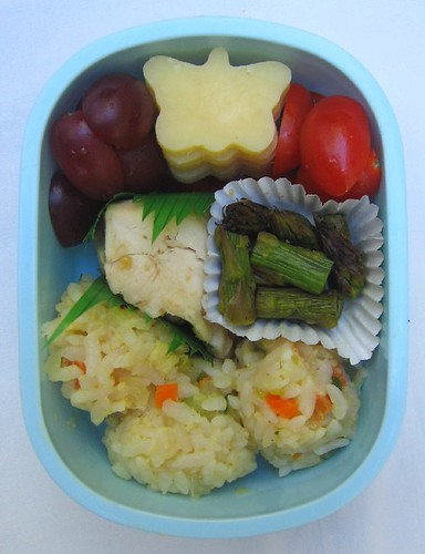 Thai curry rice lunch for toddler