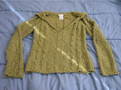 one of my favorite sweaters, though it's seen better days...