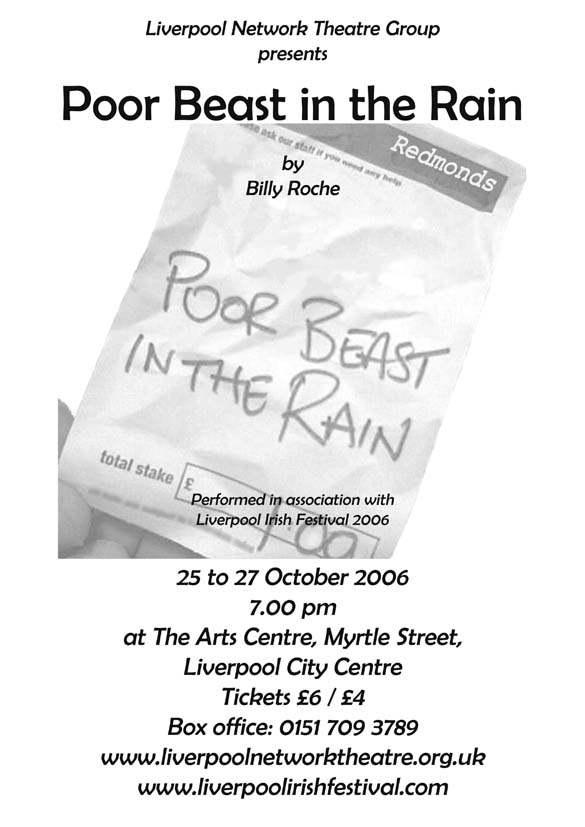 poor beast in the rain poster