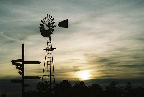 sunset weather vane